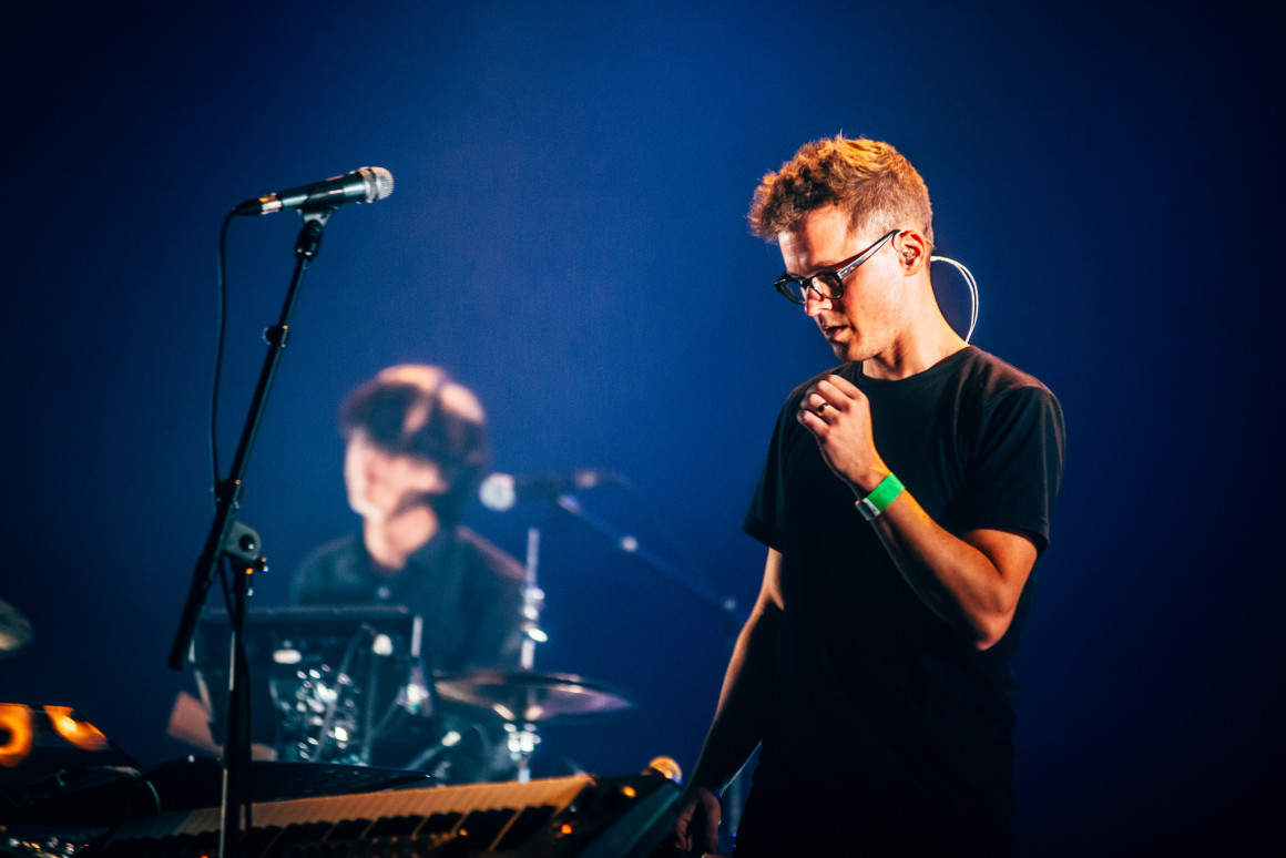 Son Lux performed an ethereal set at Central united Church Wednesday evening // Kmeron