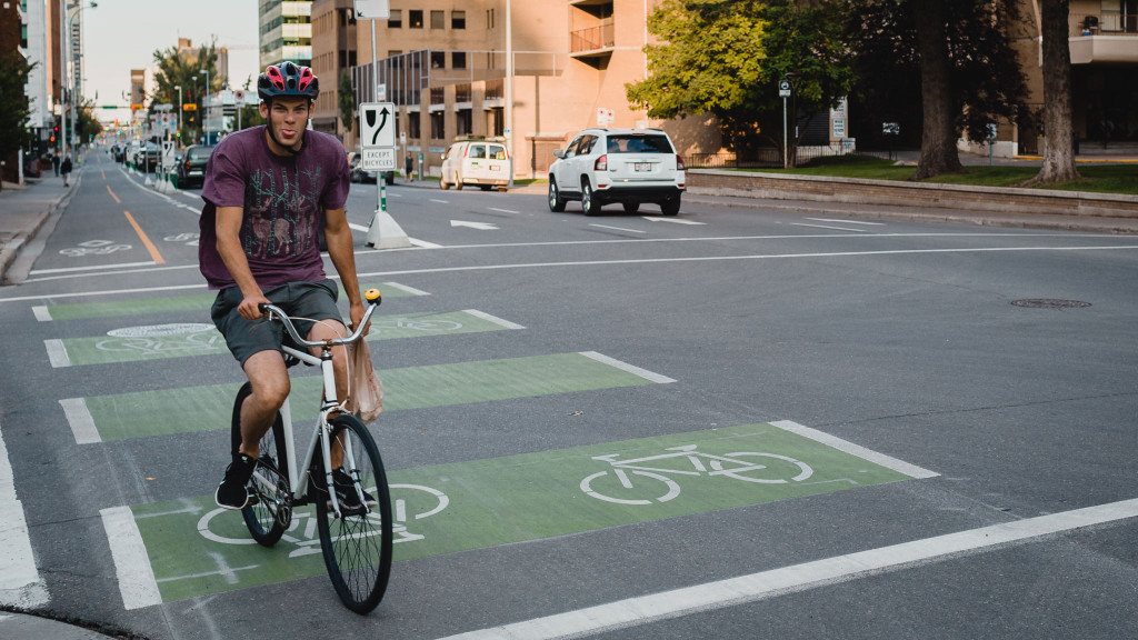 Newly opened bike lanes are causing a cycling resurgence. // Louie Villanueva