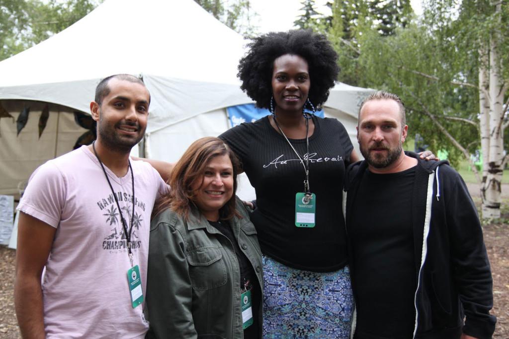 From left to right: Noor Kidwai, Martha Chavas, Adora Nwofor and Derek Seguin. // Miranda Krogstad