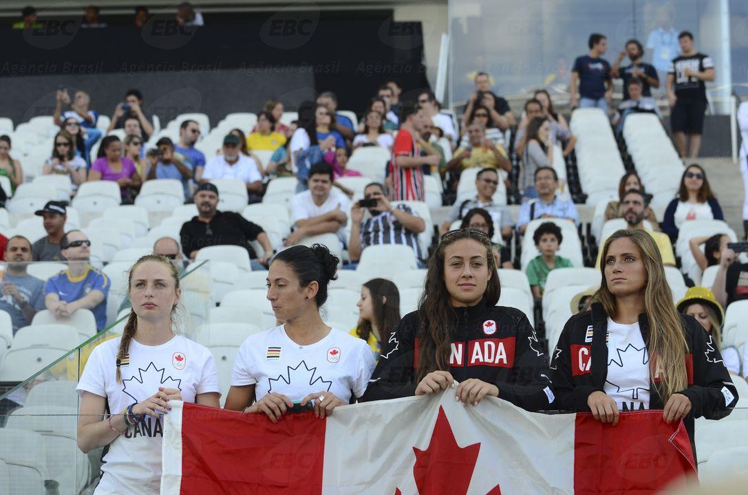São Paulo - No futebol feminino o Canadá vende Zimbábue por 3x1 na Arena Corinthians (Rovena Rosa/Agência Brasil)