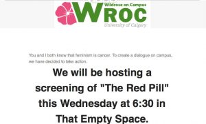 Wildrose on Campus sent the email on March 6th.//