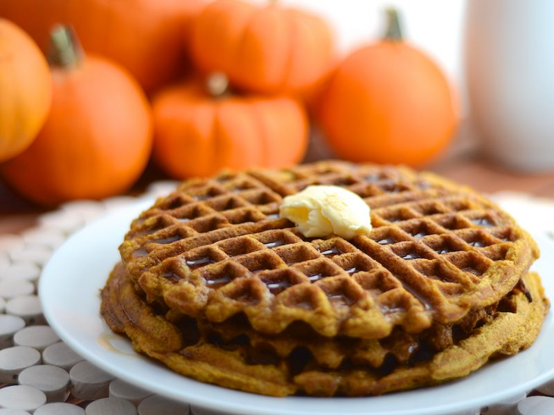 SPORTS_PumpkinWaffles_GirlMakesFood