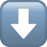 downwards-black-arrow_2b07